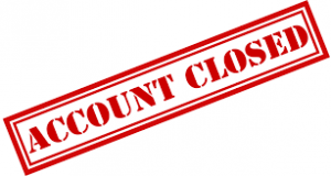 bookmakers account closed